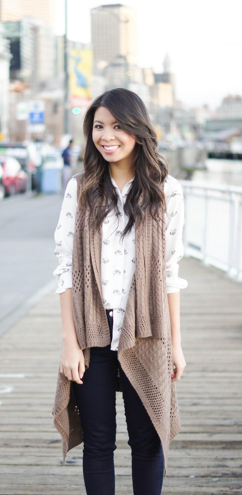 Long Draped Asymmetrical Crochet Cardigan | Just a Tina Bit