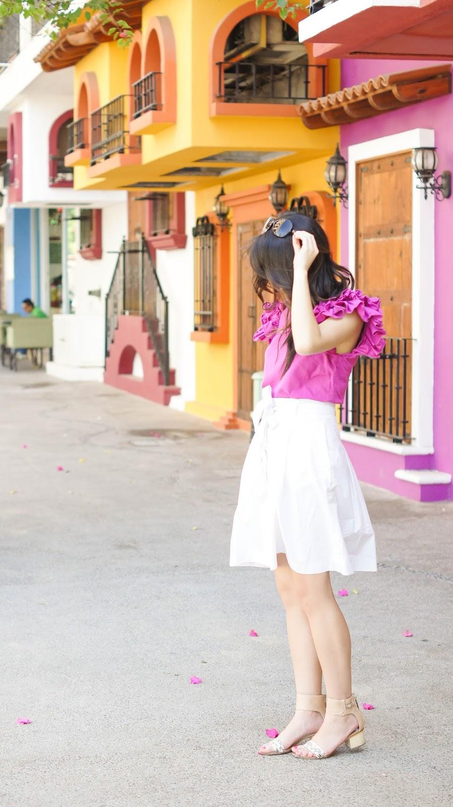 justatinabit-pink-ruffle-top-white-skirt-4