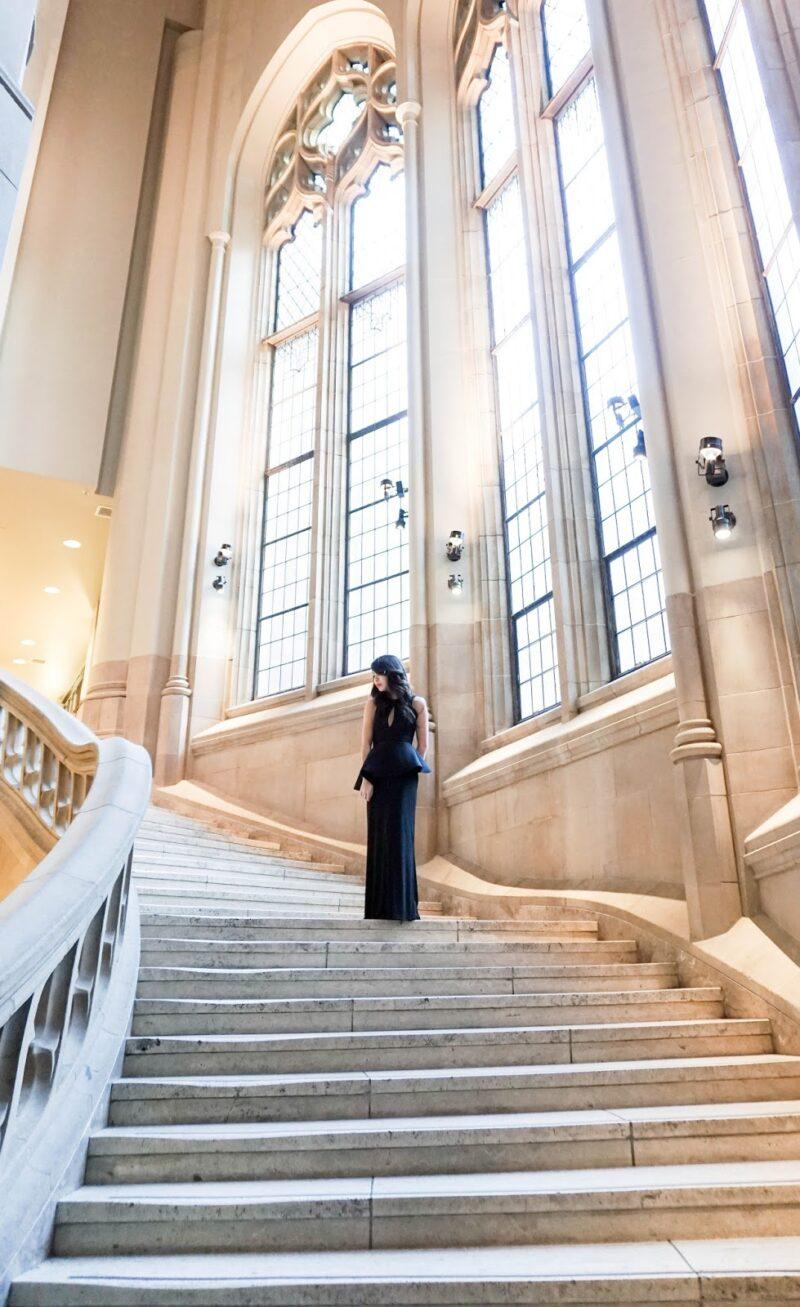 Look Glamorous on a Budget: Asos Peplum Plunge Maxi Dress