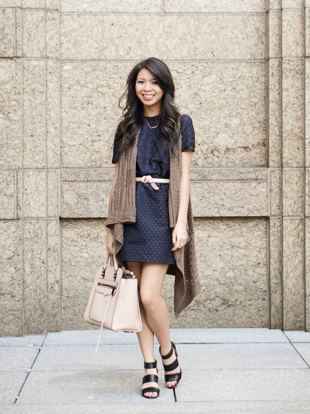 Warm Winter Day Remix: Polka Dot Dress and Long Cardigan | Just a ...