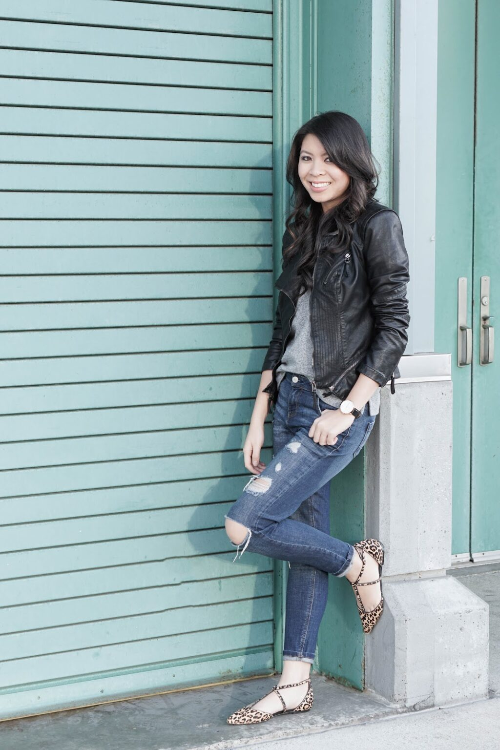 justatinabit-blanknyc-leather-jacket-top-shop-ripped-jeans-sole-society-leopard-flats-tshirt-casual-everyday-look-outfit