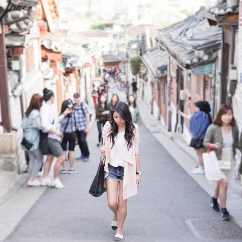 Seoul Edition: Cutoff Shorts and Waterfall Drape Trench