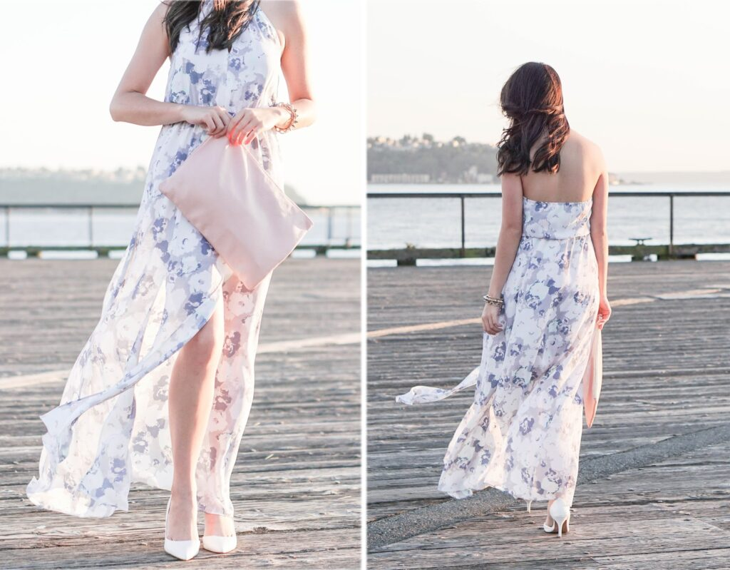 justatinabit-leith-print-slit-front-halter-maxi-dress-aldo-white-pumps-outfit-style-fashion-2-seattle-waterfront-pier
