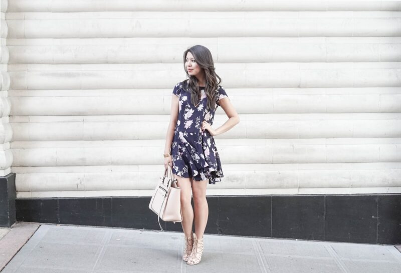 Floral Frenzy: Cooperative Floral Flare Swing Dress