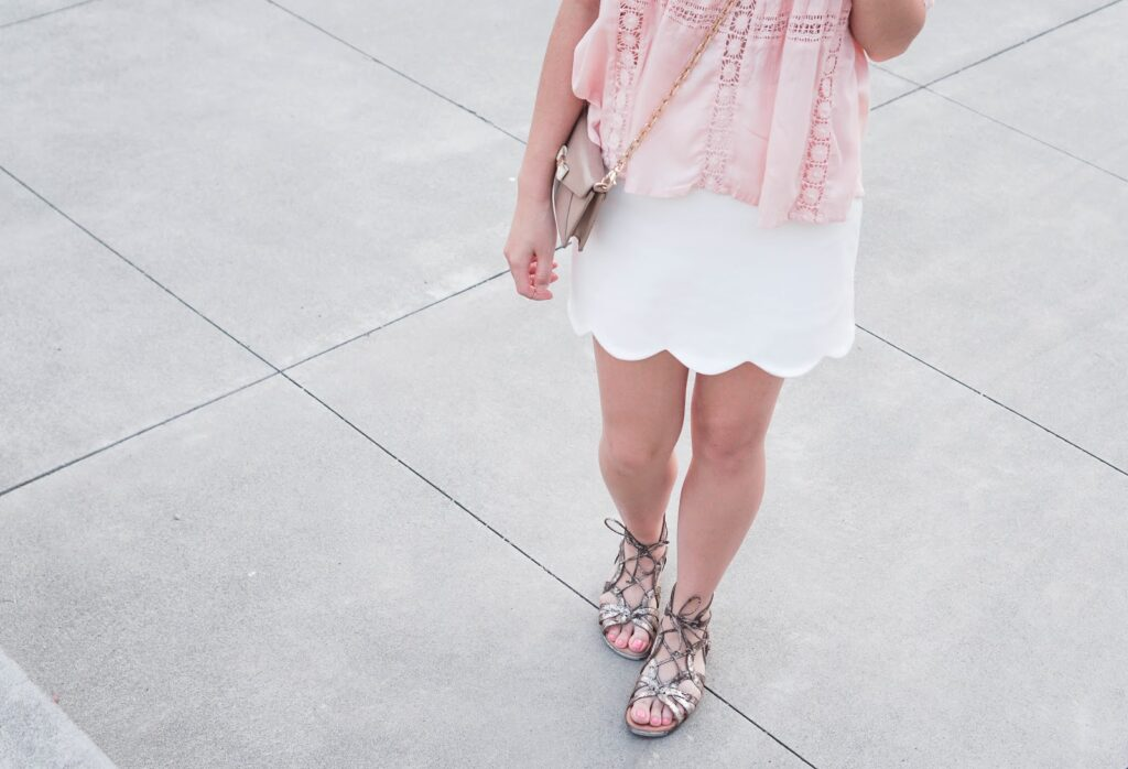 justatinabit-amuse-society-clover-top-with-lace-trims-topshop-scallop-hem-miniskirt-gentle-souls-break-my-heart-caged-sandals