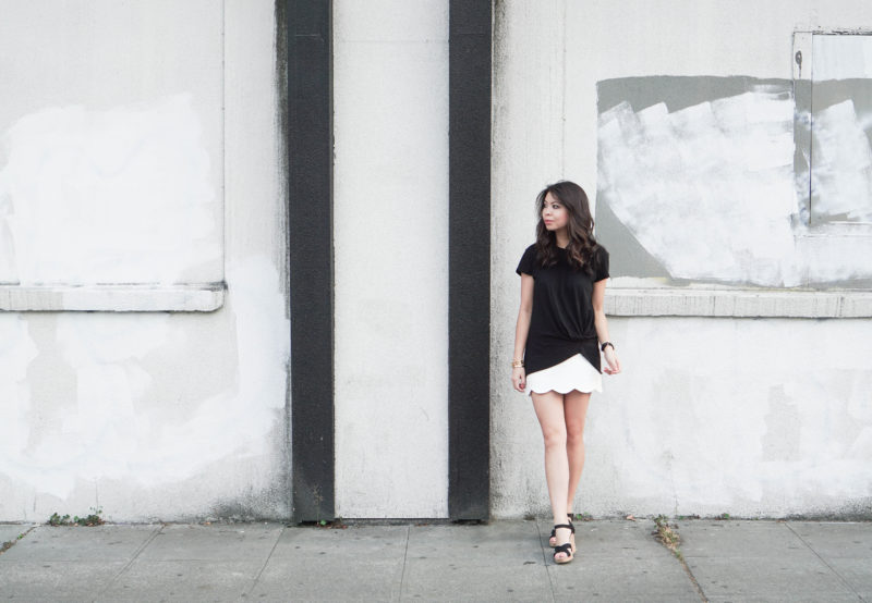 Scallop Skirt and Knot Tee