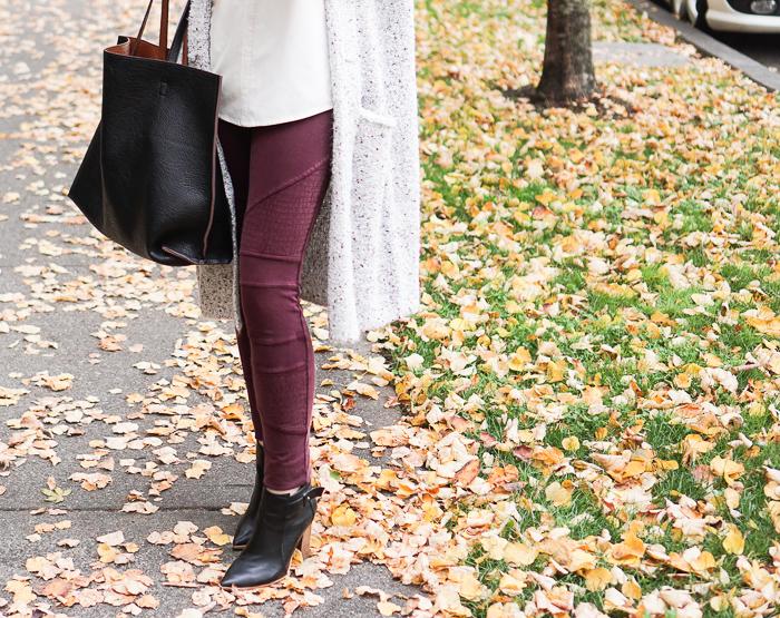 Sweater Cardigan + Moto Leggings