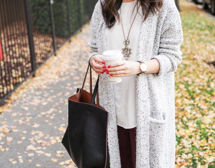 Sweater Cardigan   Moto Leggings | Just a Tina Bit