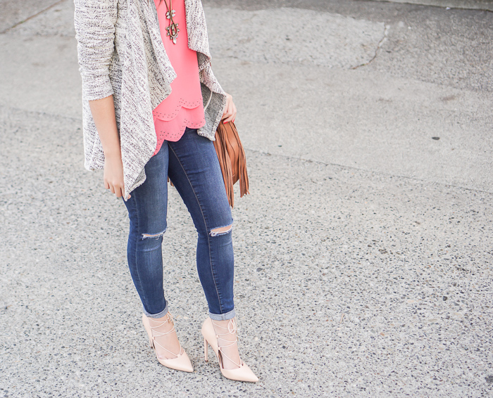 justatinabit-waterfall-cardigan-fevrie-selena-scallop-edge-tank-topshop-jeans-fringe-bag-lace-up-heels-2
