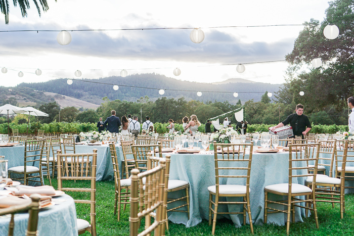 sonoma california wine country outdoor wedding at chateau st jean winery