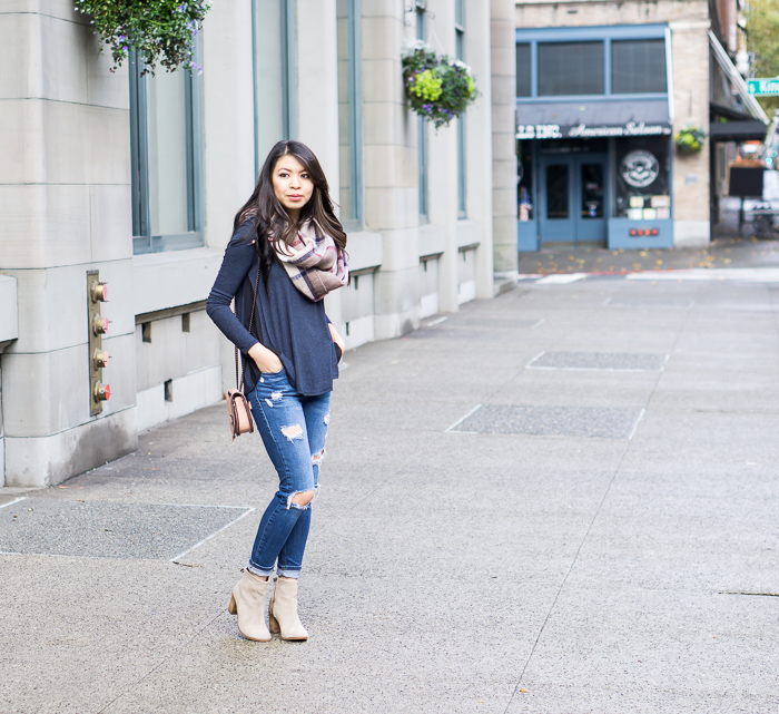 Casual Fall Outfit + TOMS Lunata Booties