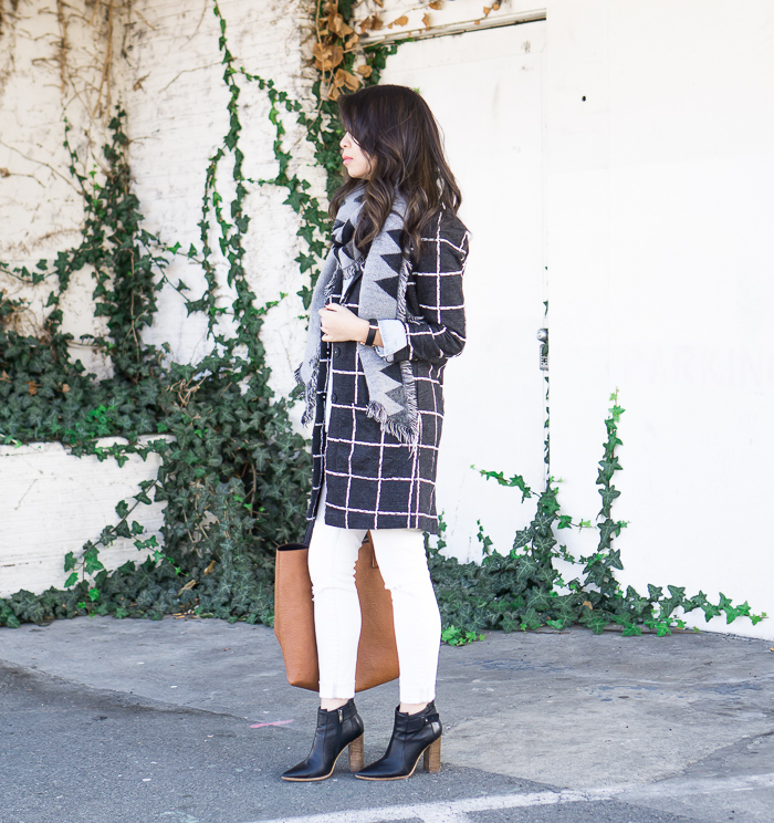 d8f95d2bb30 chicwish plaid check longline blazer long jacket
