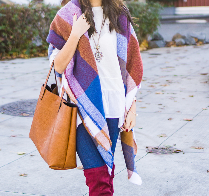 2015 Black Friday Sales + Blanket Scarf Outfit