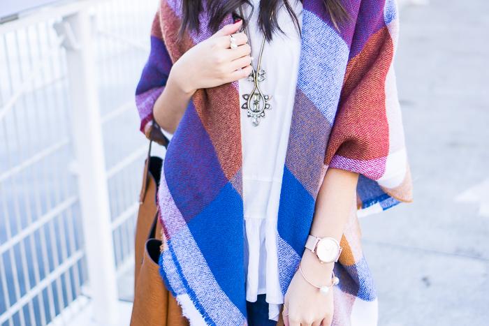 2015 black friday sales, blanket scarf in 70s check