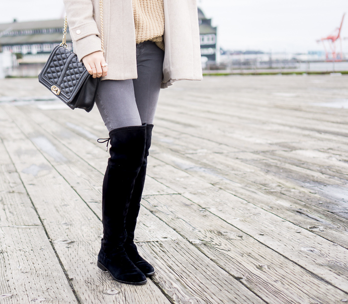 dolce vita neely over the knee boots, casual winter outfit