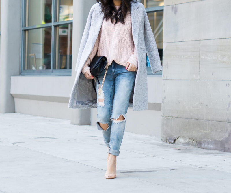 Distressed Skinny Jeans Winter Outfit