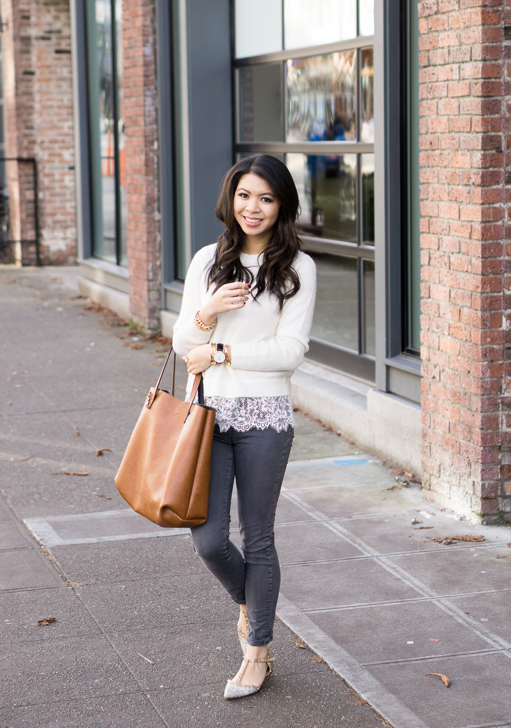 Lace Hem Sweater | Just a Tina Bit