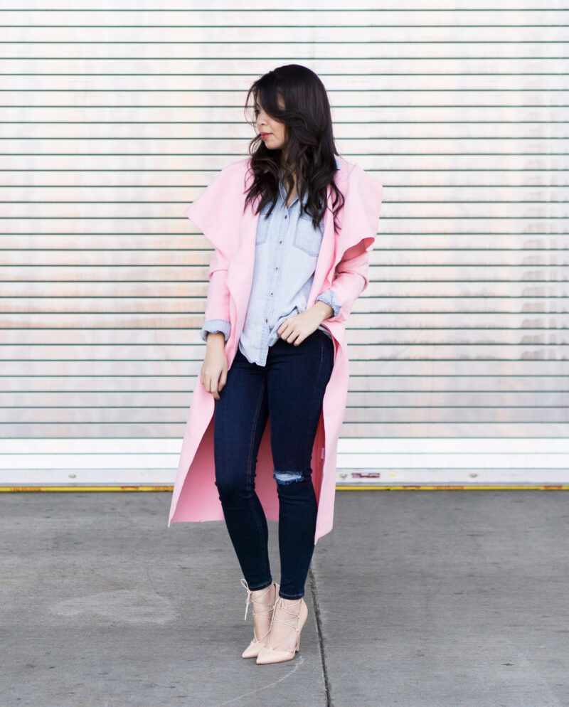 Pretty Pink Coat Outfit