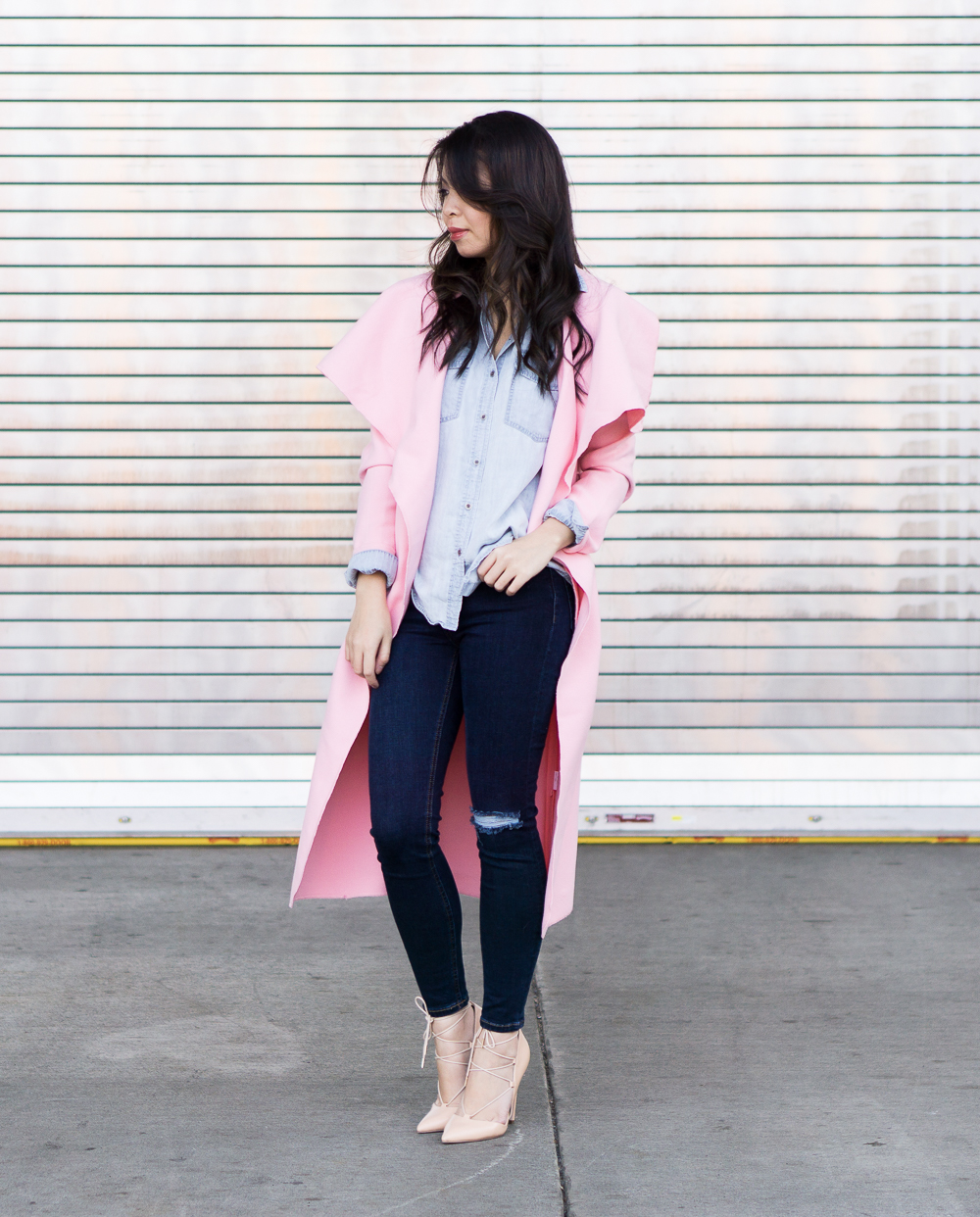 6bfcf43caf40 Pretty Pink Coat Outfit