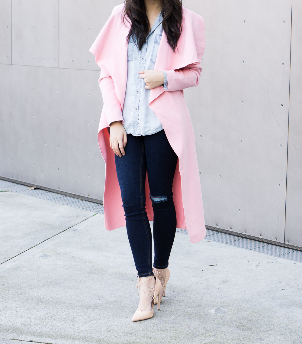Pretty Pink Coat Outfit | Just a Tina Bit