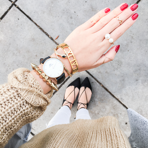 nordstrom leith oversize turtleneck sweater, topshop ghillie flats, daniel wellington classic sheffield watch
