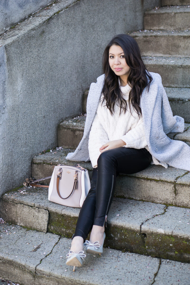 Fluffy Turtleneck Sweater Outfit