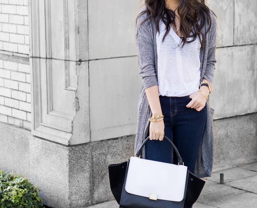 simple style, vero moda drape cardigan outfit, celine trapeze bag, simple style, vero moda drape cardigan outfit, celine trapeze bag, tshirt outfit idea