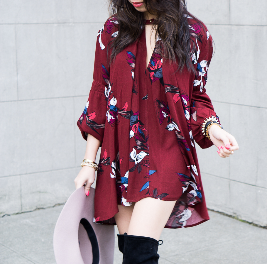 Swing dress: Chicwish Keep Swinging Floral Tunic