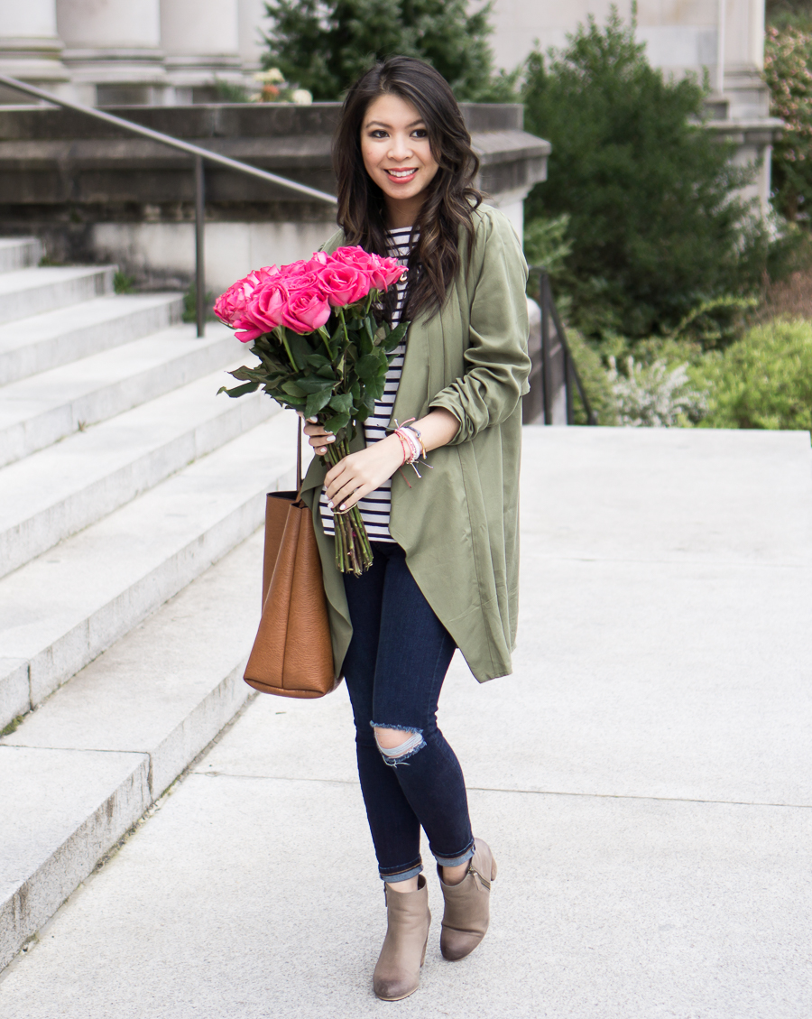 Casual Fashion Style with Waterfall Jacket | Just a Tina Bit