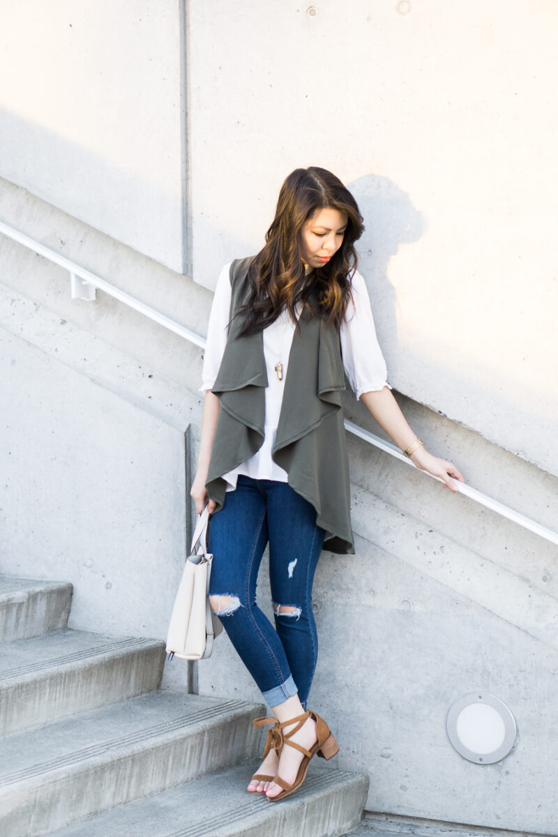 Casual Outfit with Waterfall Cardigan
