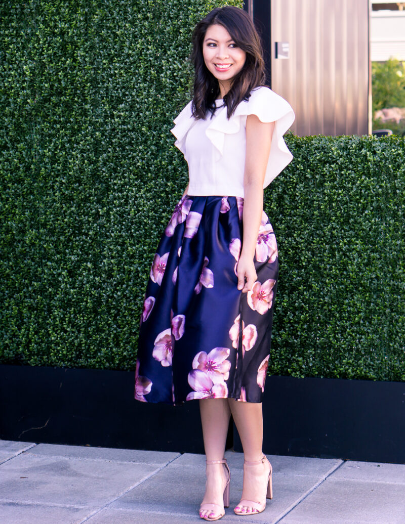 The Summer Floral Midi Skirt