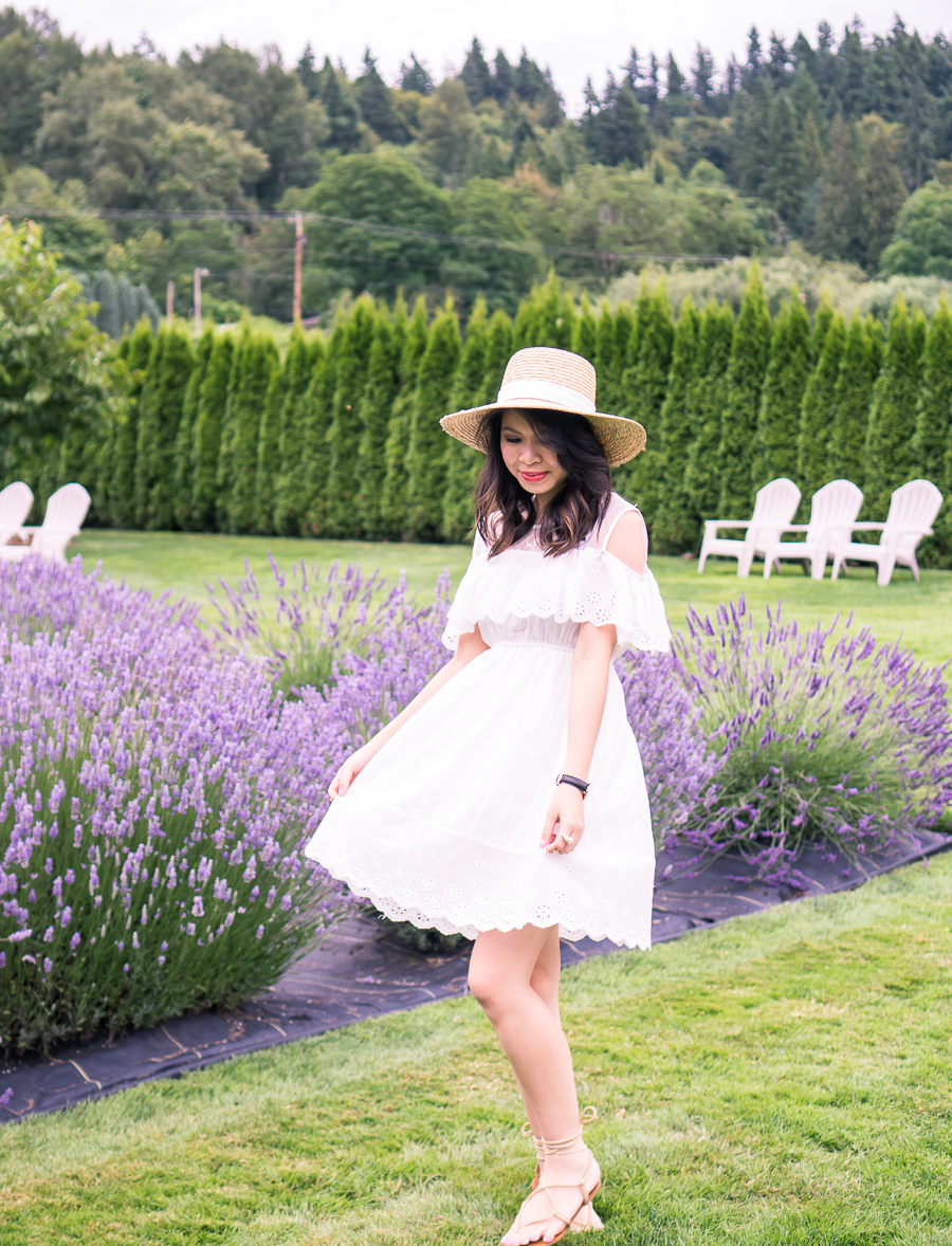 Cold Shoulder Dress And Lavender Fields Just A Tina Bit