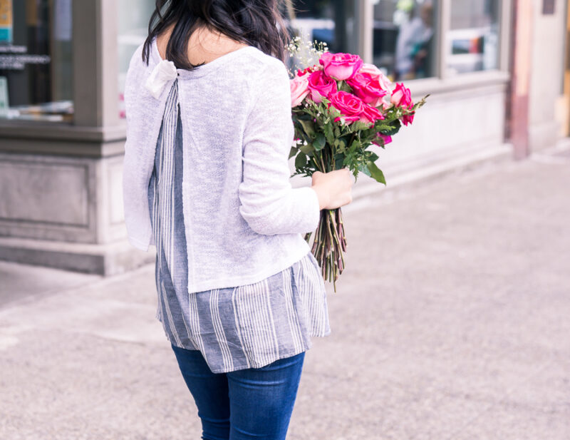 Layered Look Sweater for Summer