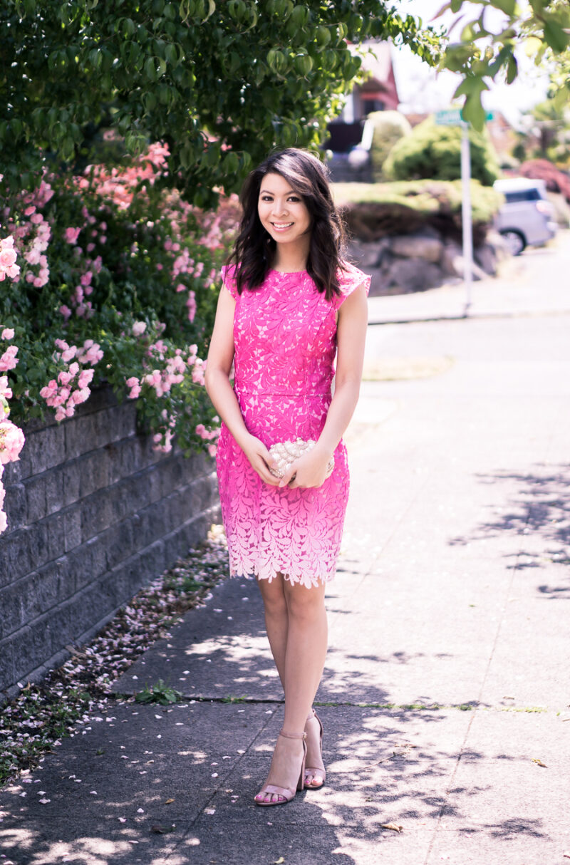 Pink Ombre Dress That S Perfect As A Wedding Guest Dress Paired
