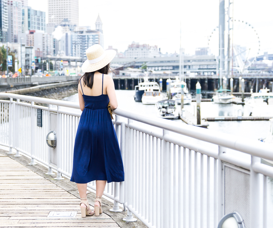 Summer navy blue dress