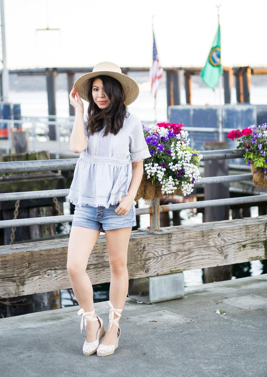 3 summer denim outfits, petite fashion blog