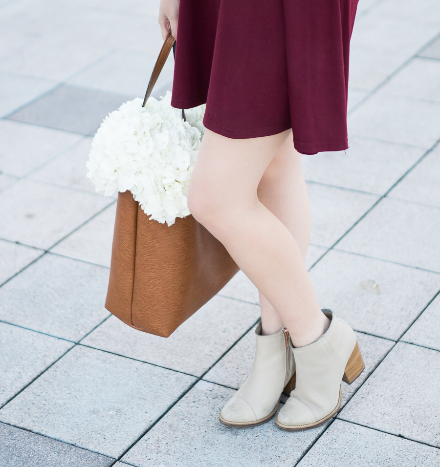 Fall outfit with Hush Puppies booties
