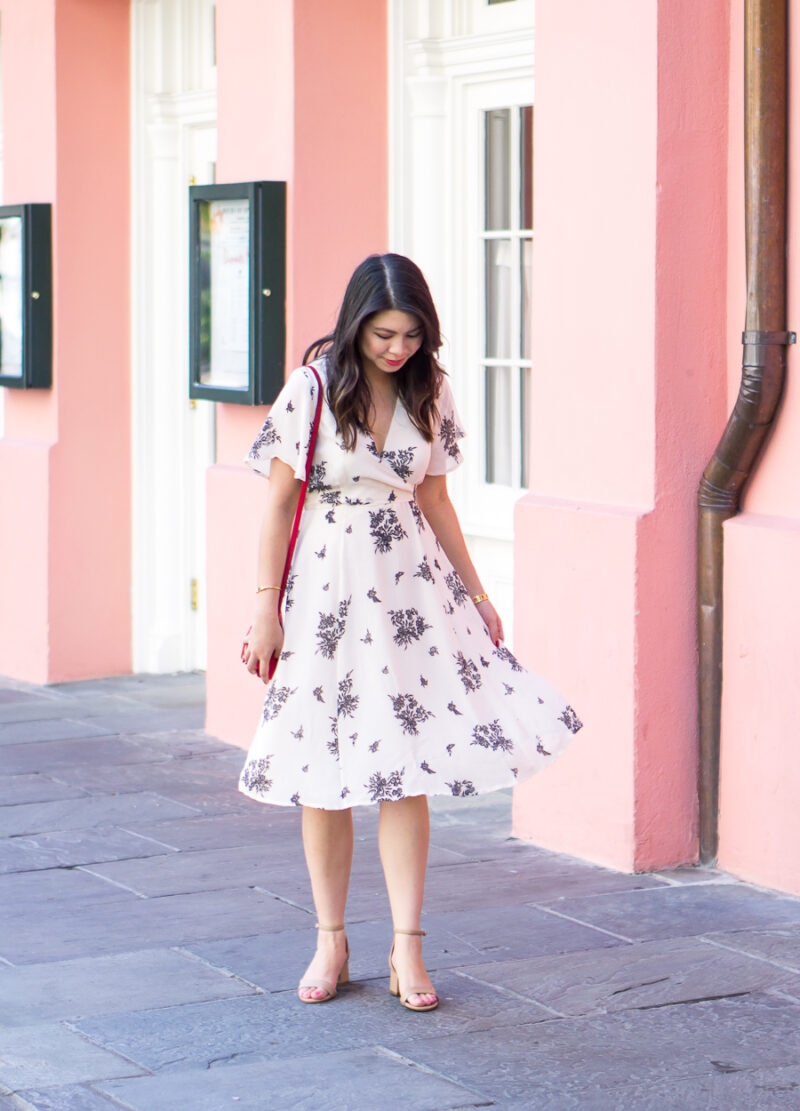 Floral Wrap Dress in New Orleans