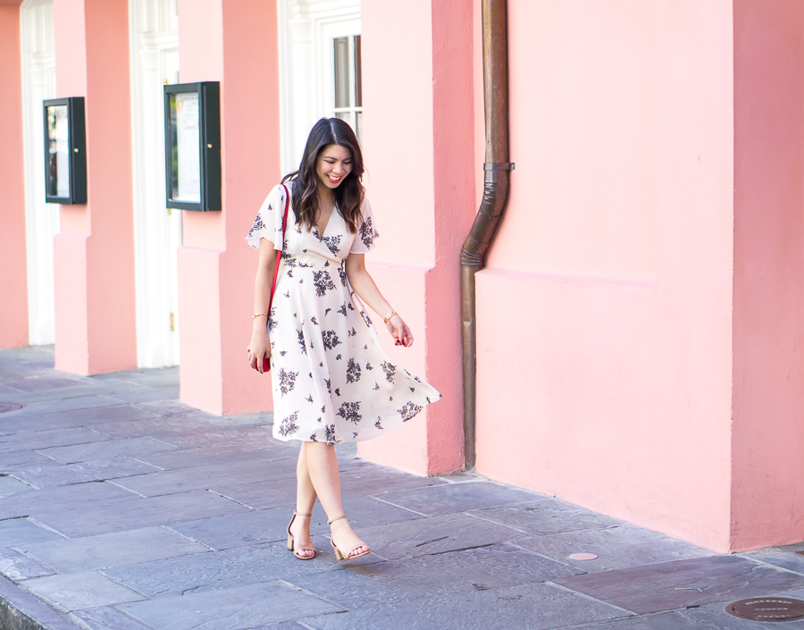 Floral Wrap Dress In New Orleans Just A Tina Bit