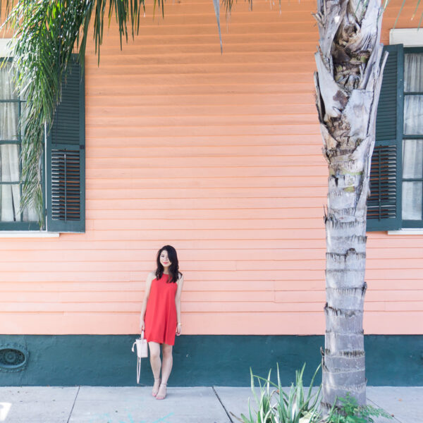 High neck dress in New Orleans Bywater   Petite Fashion Blog