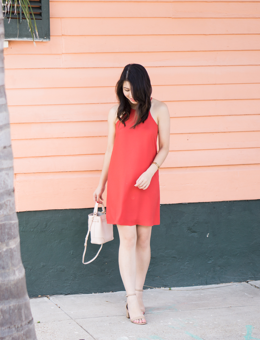 High neck dress in New Orleans Bywater | Petite Fashion Blog