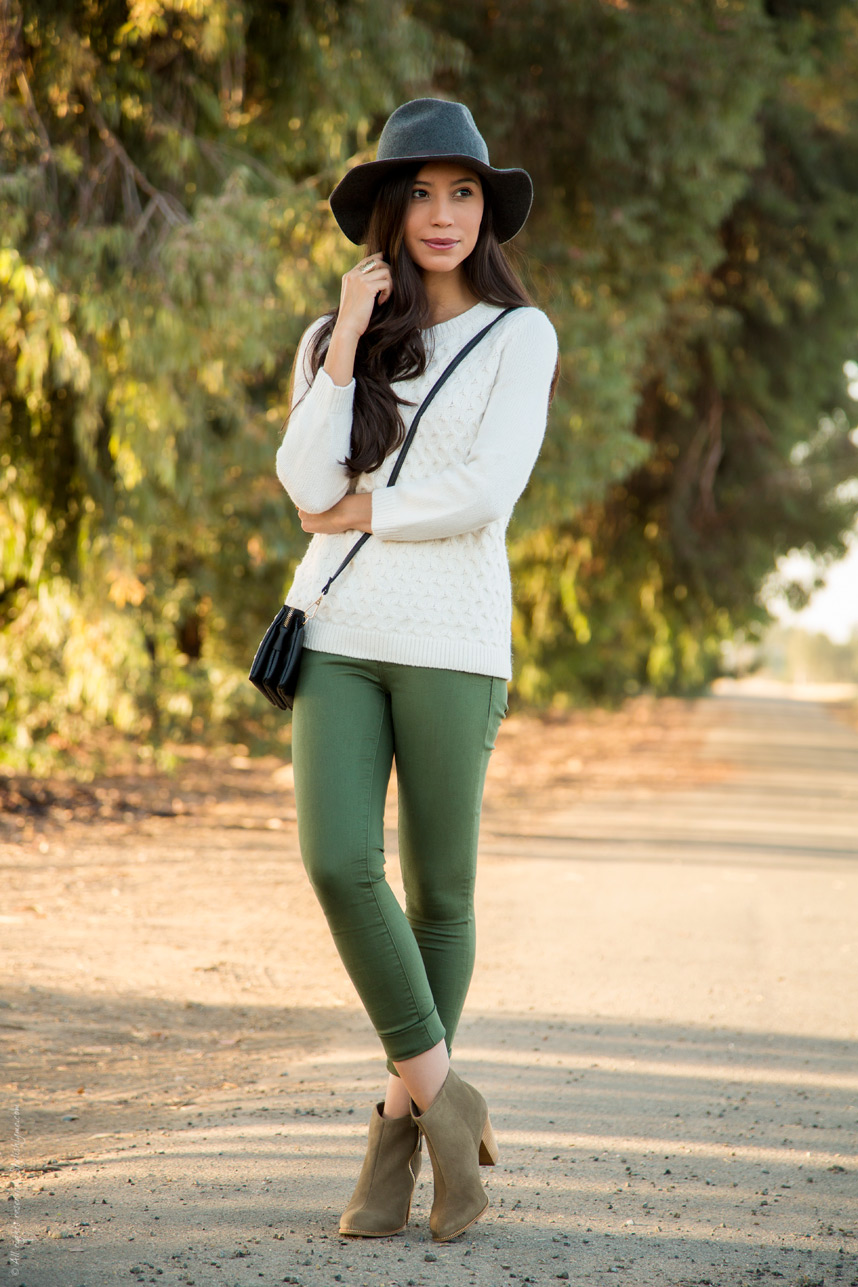 Olive Green Pants Fall Outfit