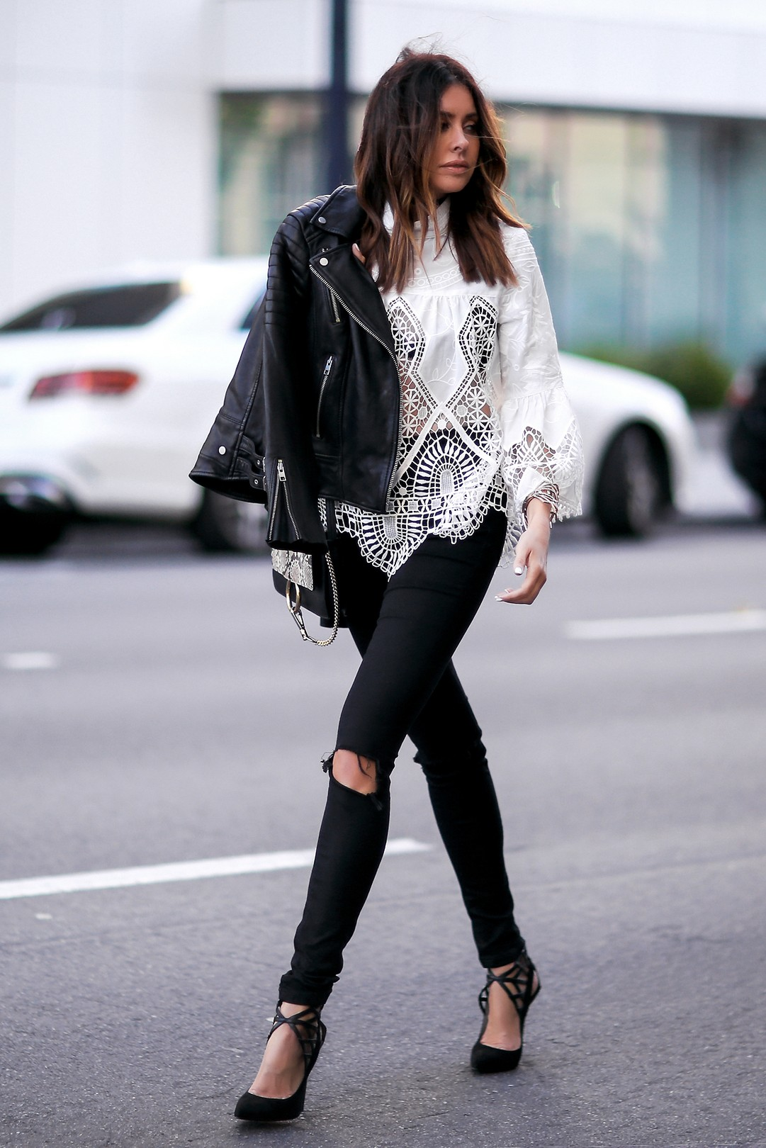 how to wear lace in the fall