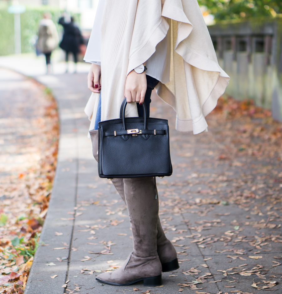 Marc Fisher Yenna Over the Knee Boots - Fall Outfit - Petite Fashion Blog