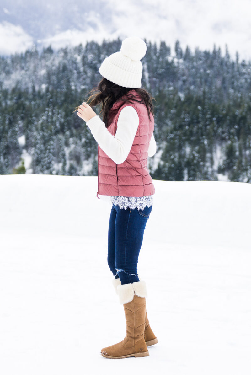 Look Chic in a Puffer Vest (Suncadia Part 1)