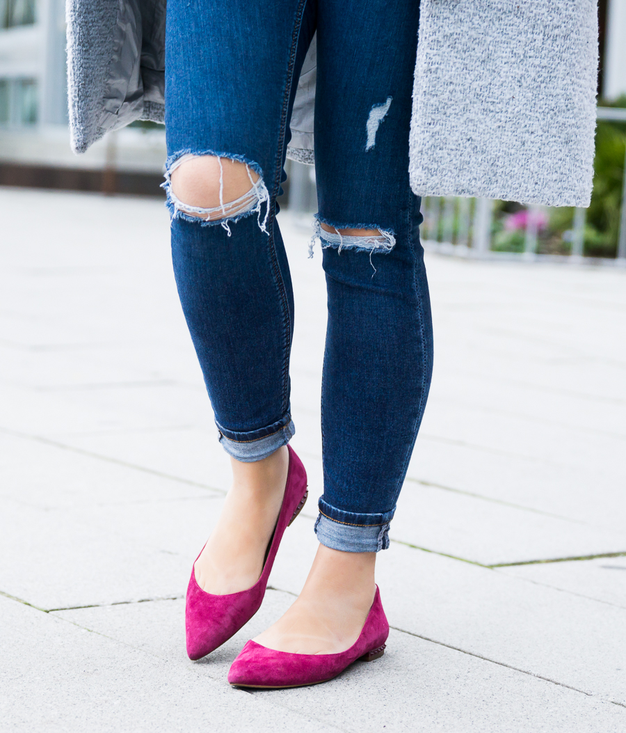 Sam Edelman pointed toe flats, petite fashion blog