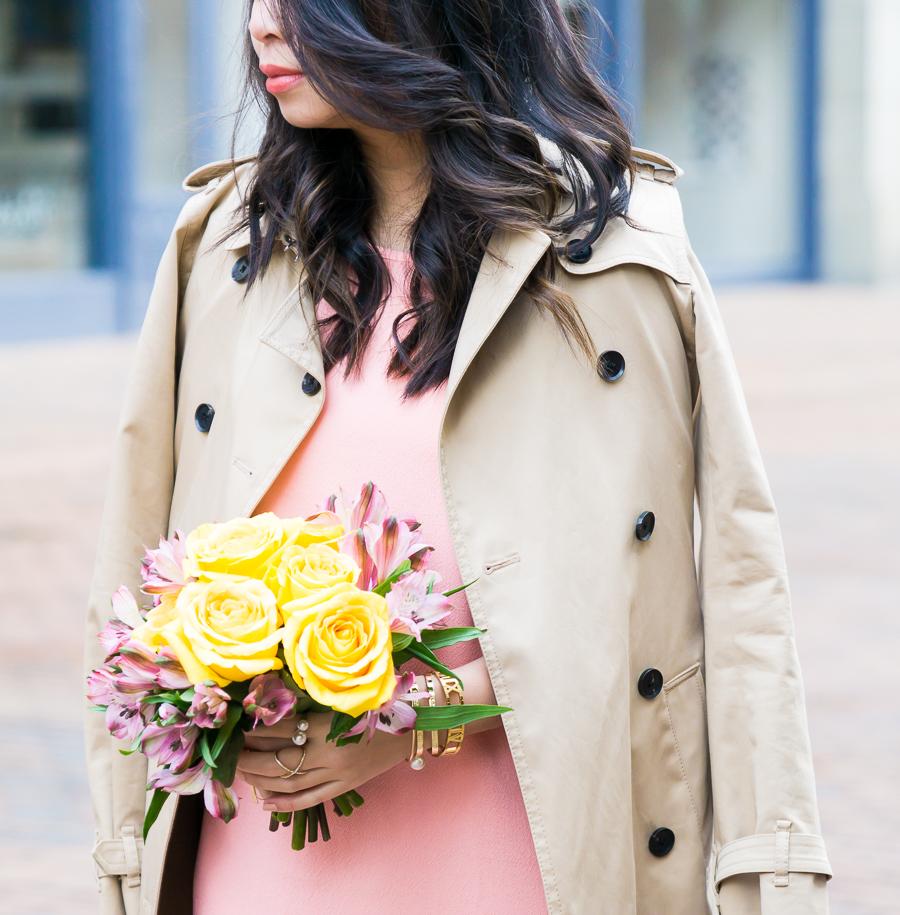 Trench coat, spring style, petite fashion blog