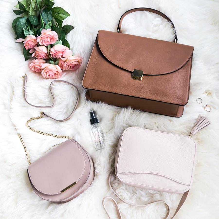 Cuyana mini tassel bag and saddle bag, petite fashion blog