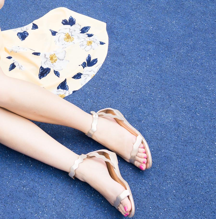 DSW scallop sandals