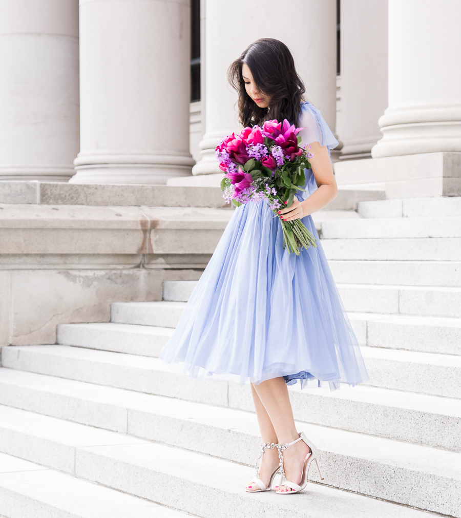 ASOS occasionwear, one shoulder dress, tulle dress, special occasion outfit, petite fashion blog